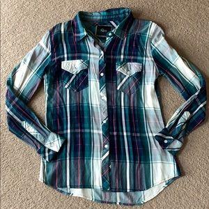 Rails plaid rayon shirt sz small